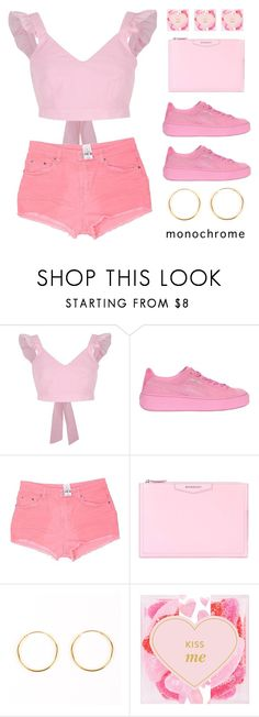 """""""Head to toe pink"""" by miee0105 ❤ liked on Polyvore featuring River Island, Puma, Carmar, Givenchy and sugarfina"""