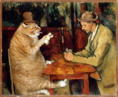 Paul Cézanne, The Cat Card Players / Поль Сезанн, «Игроки в кошачий покер»