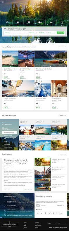 Book Awesome Trip is Premium full Responsive HTML5 Booking Template. Retina Ready. Bootstrap Framework. Parallax Scrolling. Test free demo at: http://www.responsivemiracle.com/cms/book-awesome-trip-premium-responsive-travel-booking-html5-template/ Analisamos os 150 Melhores Templates WordPress e colocamos tudo neste E-Book dividido por 15 categorias e nichos de mercado. Download GRATUITO em http://www.estrategiadigital.pt/150-melhores-templates-wordpress/