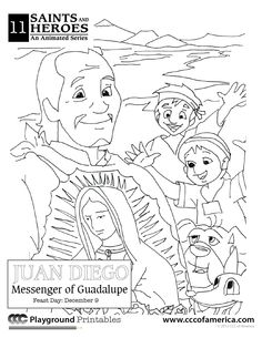 Immaculate Conception Coloring Sheet Great visual of what the day