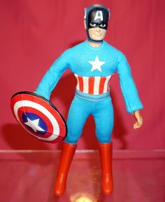 MEGO CAPTAIN AMERICA T2 FROM MARVEL COMICS ACTION FIGURE #DCComics