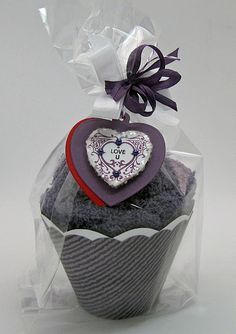 Fuzzy Slipper Cupcake Wrapped and Tagged!