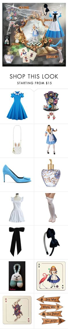 """Alice cosplay"" by nanitas23 ❤ liked on Polyvore featuring Loungefly, Disney, Pierre Hardy, Lolita Lempicka, Jennifer Behr and Avenida Home"
