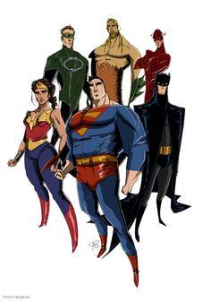 Justice League by Franco Spagnolo