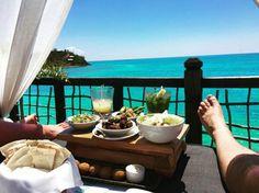Breathtaking view + great cuisine = Cocobay Resort