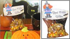 Halloween treat ideas, printable party favors
