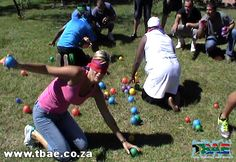 Finding the ball blindfolded