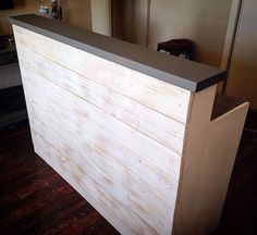 Marina - White distressed reception desk/ cash wrap/bar/ counter- Made to order- by oursolecreations on Etsy https://www.etsy.com/listing/501029782/ready-to-ship-white-distressed-reception #cashwrap #receptiondesk #distressedwood #distressedpaint #distressedwhite #handmade #madeinla #madeinlosangeles #bar #retailfurniture #hotel #retailstore #shabbychic #wood #woodworking