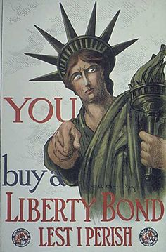 World War I Poster, ok scary Lady Liberty I'll do whatever you want!