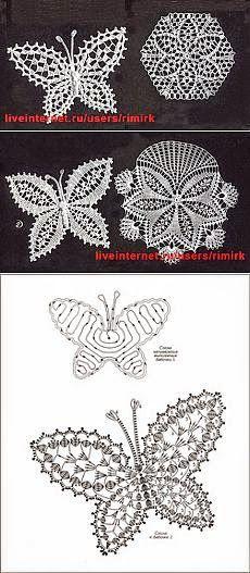 Patrón de aplique de mariposa para tejer al crochet                                                                                                                                                     Más