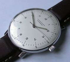 Timeless design by Max Bill... watch by Junghans...reminds me of my Poppop