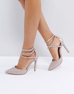 297b13591 ASOS PORTMORE Studded Pointed Heels Asos Shoes