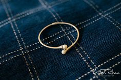White gold bracelet with pearl at the end || Bride's Accessories