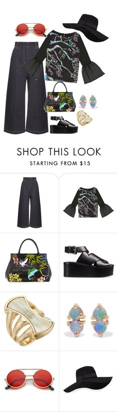 """Untitled #118"" by kallie-mciver on Polyvore featuring Wales Bonner, TRAMP IN DISGUISE, Nancy Gonzalez, Alexander Wang, Robert Lee Morris, WWAKE, ZeroUV and San Diego Hat Co."
