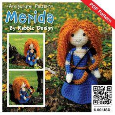 PDF Pattern - Amigurumi Princess Merida Pattern