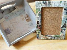 Travel Tray and Parisian Corkboard Frame Craft