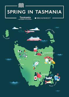 Tasmania in Spring - Eirian Chapman #map