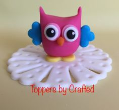 Owl you need is love fondant owl by Toppers by Crafted https://www.facebook.com/toppersxcrafted