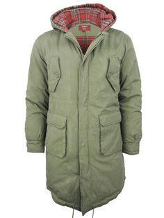 ★Mens Merc London FishTail Parka M51 Style Jacket/ Coat 'Tobias' Combat Green | eBay