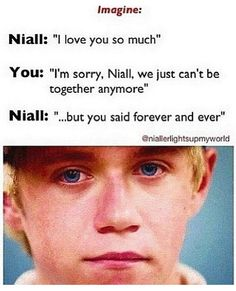 Oh my word... First of all, I would NEVER say that to him, and second of all I hate to see him cry :'(