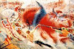 Umberto Boccioni, La città che sale, 1910-1911, olio su tela, Museum of Modern Art, New York.