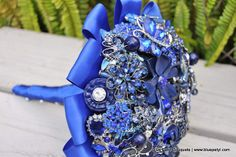 Blue Brooch Bouquet | Blue Brooch Bouquet | Flickr - Photo Sharing!