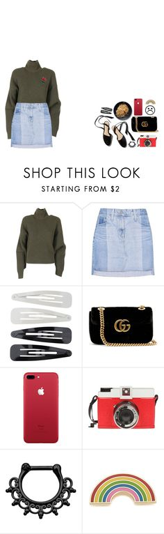 """""""tired of being alone ; feeling alone"""" by kayleeinfinity ❤ liked on Polyvore featuring Balenciaga, AG Adriano Goldschmied, NARS Cosmetics, Forever 21, Gucci, Edition and Georgia Perry"""