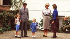 Diana und Charles bringen ihre Söhne in den Kindergarten. © dpa / picture alliance