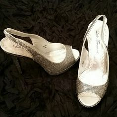 Like new Lulu Townsend sparkle platform heals So sassy. Perfect condition, slight wear on bottoms of shoes as worn a few times but otherwise like new. Lulu Townsend Shoes Heels