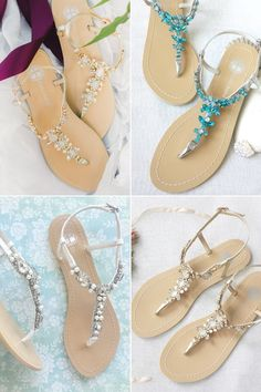 """Before you start looking for bridal shoes, make sure you know exactly what your wedding venue is going to be like. What if you're dreaming to say """"I Do"""" in the sand? One the biggest dilemma for a beach bride is having to decide what kind of shoes to wear. While beach weddings are all …"""