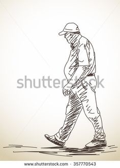 Sketch of walking man, Hand drawn illustration Human Figure Sketches, Human Sketch, Human Drawing, Figure Sketching, Life Drawing, Figure Drawing, Cartoon Sketches, Art Sketches, Posture Drawing