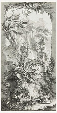Print, Rocaille (rococo design), in Nouveaux morceaux pour des paravents (New concepts for screens), 1730s