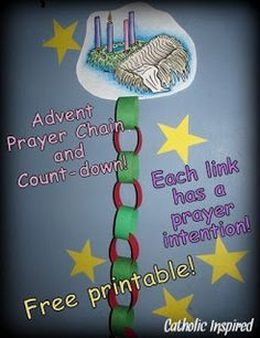 Advent Prayer Chain and Coloring Activity   Catholic Inspired ~ Arts, Crafts, and Activities!