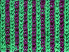 Two-color Brioche Stitch | Knitting Stitch Patterns