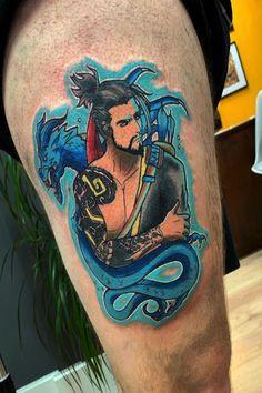 Hanzo 🐉✨ #tattoo #tattoos #colour #colourtattoo #hanzo #overwatch #overwatchtattoo Overwatch Tattoo, Colour Tattoo, Tattoos For Women, Color, Tatuajes, Female Tattoos, Colour, Tattoo Women, Colors