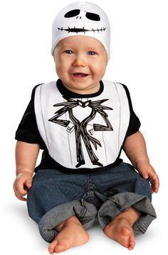 The Nightmare Before Christmas Jack Skellington Bib and Hat Infant Costume #Halloween #costumes #nightmarebeforechristmas