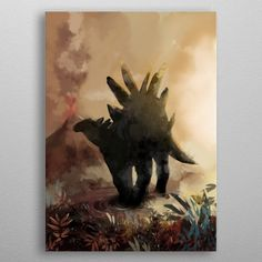 Stegosaurus by Mr Jackpots Wall Art Prints, Framed Prints, Canvas Prints, Fine Art Posters, Painted Cups, Muse Art, Office Art, Canvas Pictures, Print Artist