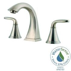 Pfister Pasadena 8 in. Widespread 2-Handle Bathroom Faucet in Brushed Nickel LF-049-PDKK at The Home Depot - Mobile