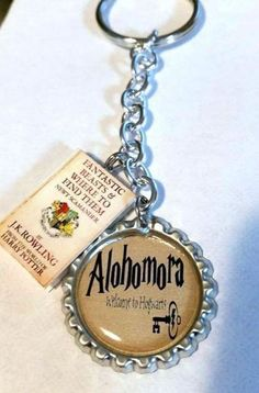 Harry Potter Alohomora Book Charm Key Chain Keychain YOU CHOOSE YOUR BOOK!!