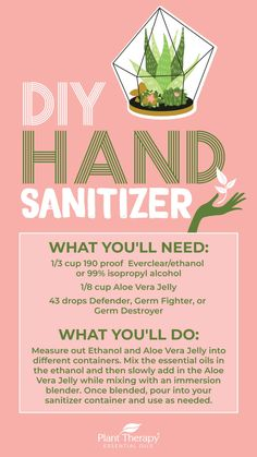 DIY Essential Oil Hand Sanitizer - Naturally Blended - DIY Essential Oil Hand Sanitizer – Naturally Blended Imágenes efectivas que le proporcionamos sob - Natural Disinfectant, Disinfectant Spray, Plant Therapy Essential Oils, Essential Oil Blends, Slim And Sassy, Everclear, Vegetable Drinks, Hand Sanitizer, Blog