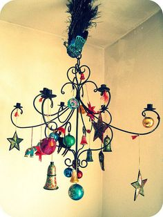 Supposed to be a Christmas made Chandelier but...too fun for just Christmas