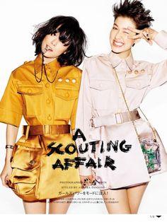 """A Scouting Affair"" by Matt Irwin for Vogue Japan June 2015 [Editorial]"