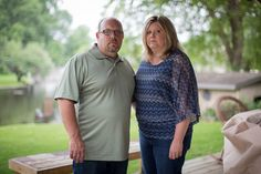 Lester and Amanda Anderson at home in Elkhart, Ind. They said they were worried about the future of ... - Andrew Nelles for The New York Times