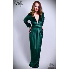 Rochie verde lunga Wrap Dress, Dresses, Fashion, Green, Vestidos, Moda, La Mode, Wrap Dresses, Fasion