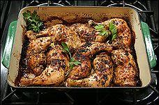 Bainbridge Island Vineyard Greek Garlic Chicken