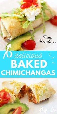 My family loves Mexican meals and these Baked Chimichangas are an easy fix for their cravings! This works together in a cinch if you keep cooked chicken in your freezer
