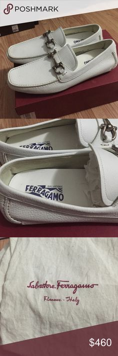 Salvatore ferragamo parigi brand new! This are a brand new Salvatore ferragamo 9 D white. Never worn. Comes with box and dust bags. Salvatore Ferragamo Shoes Loafers & Slip-Ons