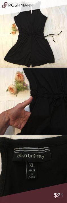 """ALLISON BRITTNEY black romper Black ALLISON BRITTNEY romper with drawstring waist and pockets. 18"""" from waist to hem. Allison Brittney Other"""