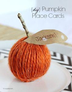 {Thanksgiving Table} Simple Place Cards | hi Sugarplum!
