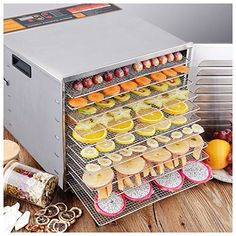 Food Dehydrator Machine 10 Tray Layer Professional And Stainless Steel Fruit Jerky Meat Vegetables Dryer Blower Commercial Use High Drying Power * To view further for this item, visit the image link. (This is an affiliate link) Fruit Dryer, Food Dryer, Making Jerky, Electric Foods, Dehydrator Recipes, Fruit Dehydrator, Small Kitchen Appliances, Kitchen Small, Atelier